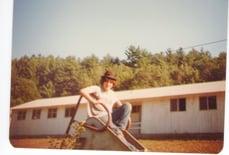 1982 - David Weinstein on slide