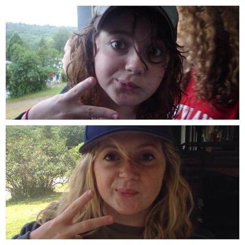 Sabrina in 2007 and 2015
