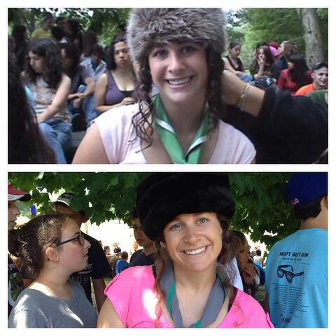 Arielle in 2005 and 2015