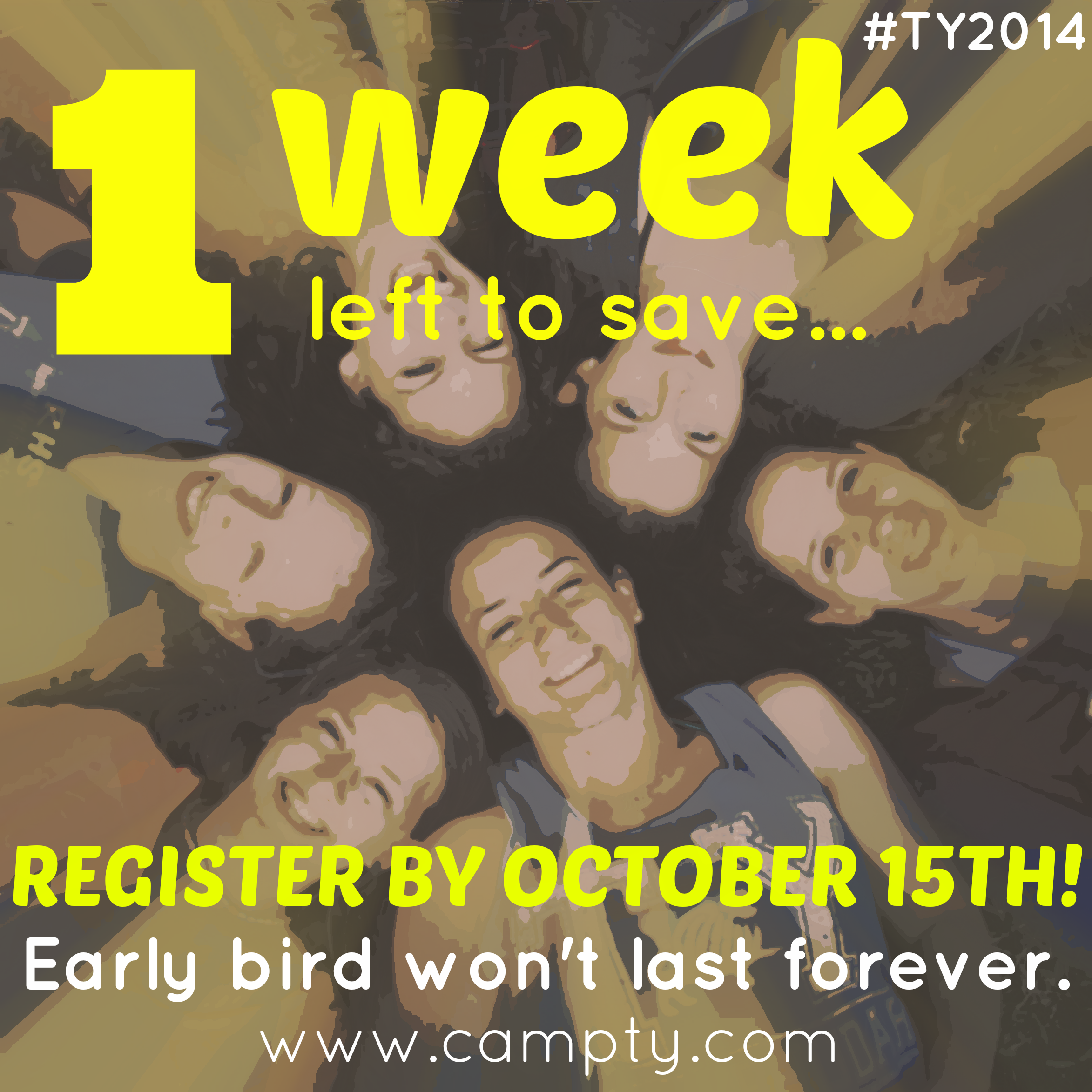 Just One More Week to Register at Last Year's Prices