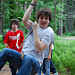 Low Ropes-boy swinging on rope